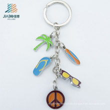50-10mm Zinc Alloy Casting Promotional Items Custom Colorful Logo Metal Key Ring