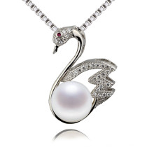 Snh Animal Shape Beautiful Pearl Pendant Necklace Sterling Silver