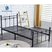 Factory Wholesale Knock-Down Small Volume Iron Furniture Single Double Bed