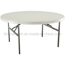 High Quality Modern Hot Selling Round Plastic Folding Table