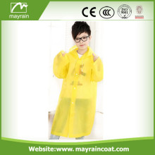 Jaune jetable PE Kid Raincoat