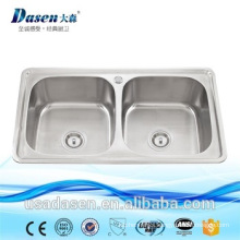 German pull out basket deep drawing double belfast sink