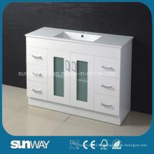 Кварцевый шкаф для ванной комнаты с прямоугольной раковиной 1200 мм