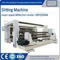 Slitting machine for film soft packing material