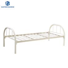 Factory Wholesale Bedroom Bed Hotel Beds Single Metal Steel Flat Bed