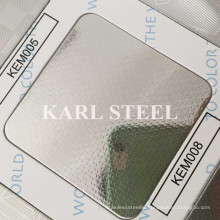 201 Stainless Steel Silver Color Embossed Kem008 Sheet