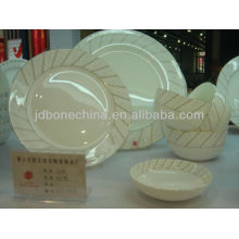 Western style coupe shape 97pcs porcelain ceramic crockery bone china dinner set