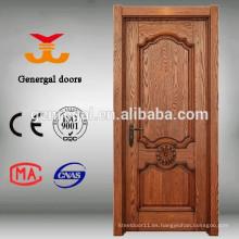 Puertas de madera laminada chapa interior