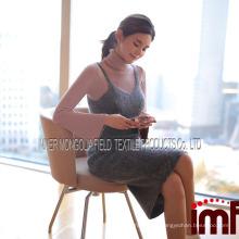Cinza mangas sem mangas longo vestido