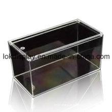 Caixa de armazenamento acrílica, caixa modelo, caixa transparente
