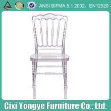 Cadeira Crystal Napoleon Resina com Almofada Macia Branca