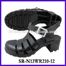 SR-N13WR210-12 (2)ladies pvc sandals plastic sandals wholesle ladies jelly sandals