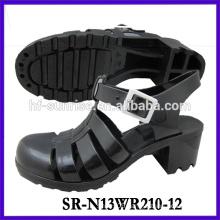 SR-N13WR210-12 (2)ladies pvc sandals plastic sandals wholesle ladies jelly sandals