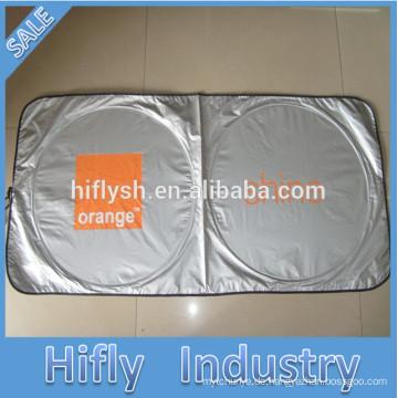 Beweglicher Auto-Windschutzscheiben-Sonnenschutz für die Werbung des Selbstsonnenschutzes