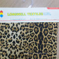 Tecido de tecido com estampa de animal leopardo tecido 100% poliéster