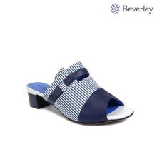 последние дизайн очаровательная синий белый сандалии тапочки