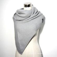 Ladies Winter Fashion Acrylic Knitted Triangular Shawl (YKY4154)