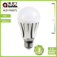 2014 New A60 Ceramic 5W LED Bulb Lighting 450Lumen High Ra