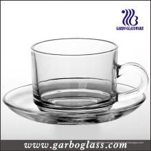Vajilla de vidrio taza y platillo Set / Set de té (TZ-GB09D2406)