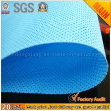 Rouleau de tissu non-tissé Spunbond en polypropylène coloré bon prix (PPSB)