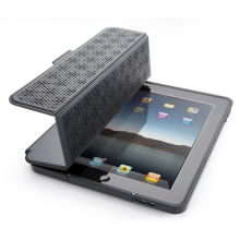 Custom Lichee Pattern Folded Smart Ipad Mini Protective Covers Debossed Logo