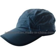 Gorra de béisbol de deporte de bolsillo de cremallera de tela microfibra respirable (TRRC003)