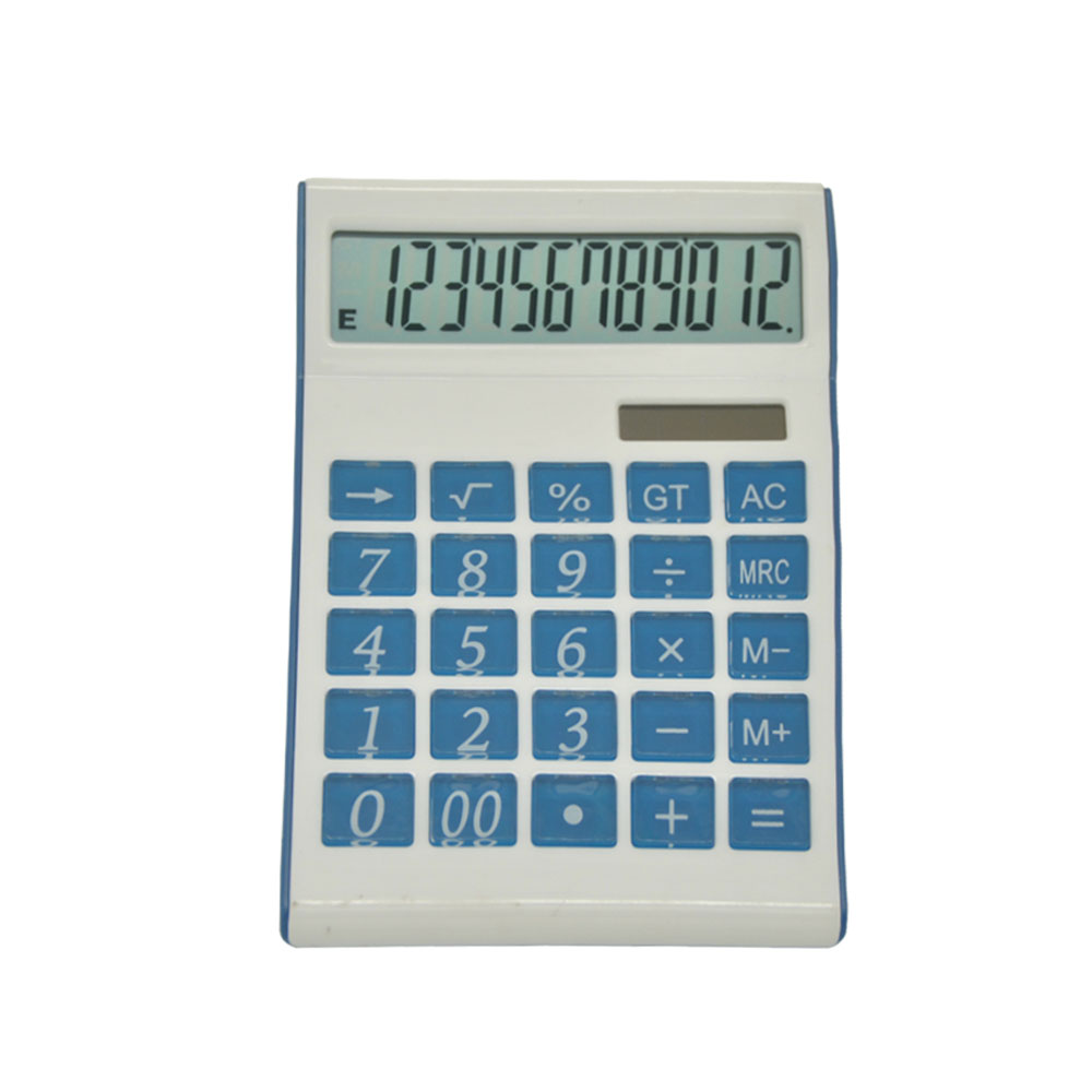12 Digits Super Thin Office Desk Electronic Calculator