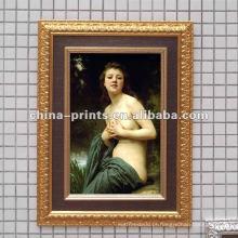Pintura a óleo da mulher nu