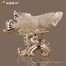 resin fish figure animal figurine real looking lucky fish animal figurine
