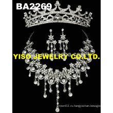 Модное кристаллическое ожерелье