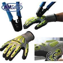 NMSAFETY cheap mechanic gloves impact mechanic gloves
