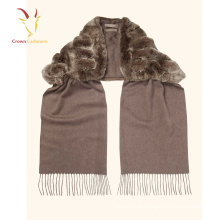 High quality Mongolian Long Fringe Scarf with Fur