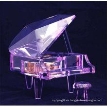 Caja de música Crystal Piano Jd-Pn-001