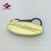 Plaques en mousse plaqué or en gros avec logo