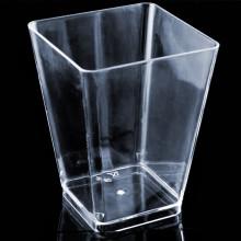 Copa de plástico grande Copa geométrica Kova Clear 6 onzas