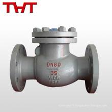 le type en acier au carbone à bride d'oscillation duo pvdf vérifient la valve fournisseurs