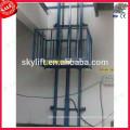 Guide rail cargo lift elevator