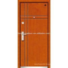 Fire resistant security steel wood armored door