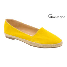 Mulheres Espadrille Pointed Toe Flat Flat Ballet Shoes