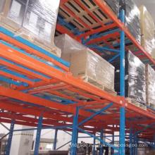 Warehouse / Factory Storage Metallic Push Back Rack/Shelf