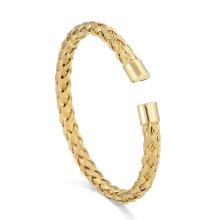 Braided Bracelet Dubai Jewelry 24K Gold Cuff Bangle Custom Woven Bracelet For Men Design