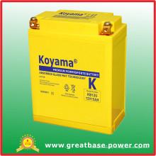 Batería sellada sin mantenimiento de la motocicleta 15Ah 12V (KB12U)