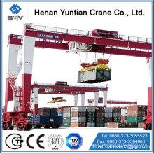 Nueva característica de 10-300Ton China Supplier Product RTG grúa de pórtico de goma con cable