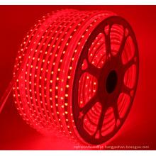 A tira 220V do diodo emissor de luz 240V IP67 Waterproof a corda RGB das luzes da fita de 5050 SMD com tomada de US / EU