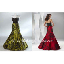 yellow and black red and black sexy silk babydoll wedding dress evening KP008