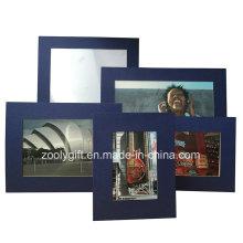 Papier d'art texturé bleu Cadre de photo Assorted Color Art Paper Encadrement de cadeaux promotionnels