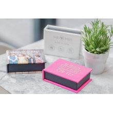 Caja de libro rígida hecha a mano ecológica para embalaje de álbumes
