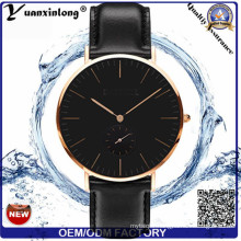 Yxl-264 Simple Design Fashion Men′s Watch Dw Style Quartz Genuine Leather Ladies Women Wrist Watch Clock Custom Watches