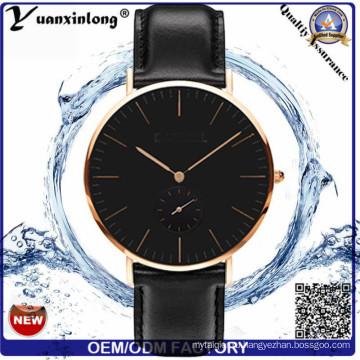 Yxl-264 часы Стиль простой дизайн Мужская мода ДГ кварцевый часы Натуральная кожа дамы женщин наручные часы часы на заказ часы