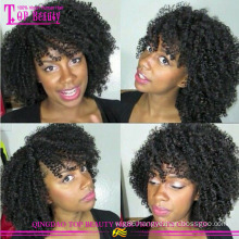 Paypal Accepted Online Stores Kinky Curl Wig Human Hair For Fashinable Women